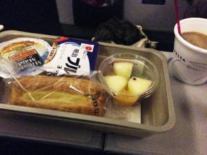 デルタ航空の機内食(朝食)