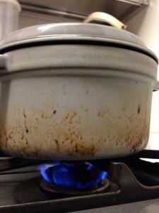 燻製の火加減:弱火