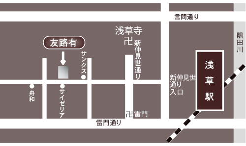 トゥモロー アクセスマップ