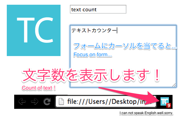 Form Text Counter Badge機能概要