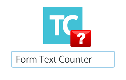 Form Text Counter Badge