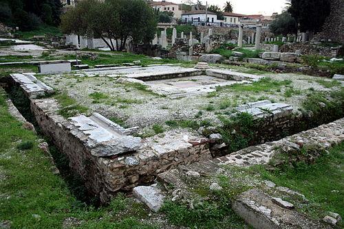 ローマ時代の公衆トイレ