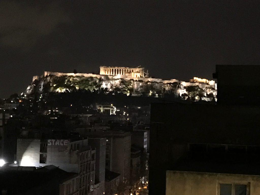 アクロポリスの夜景