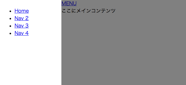 jqueryドロワーメニューはDrawer Slide Menuがいいかも。facebookみたいな左スライドインメニューの作り方【デモあり】