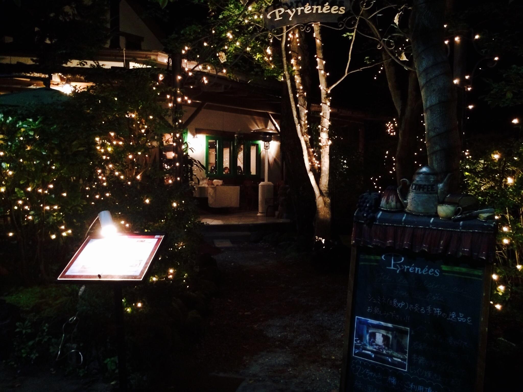 ピレネー夜のイルミネーション