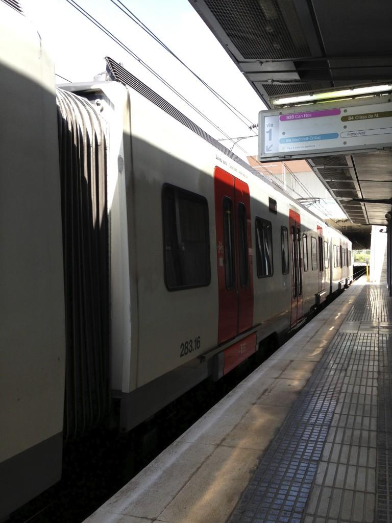 バルセロナの電車
