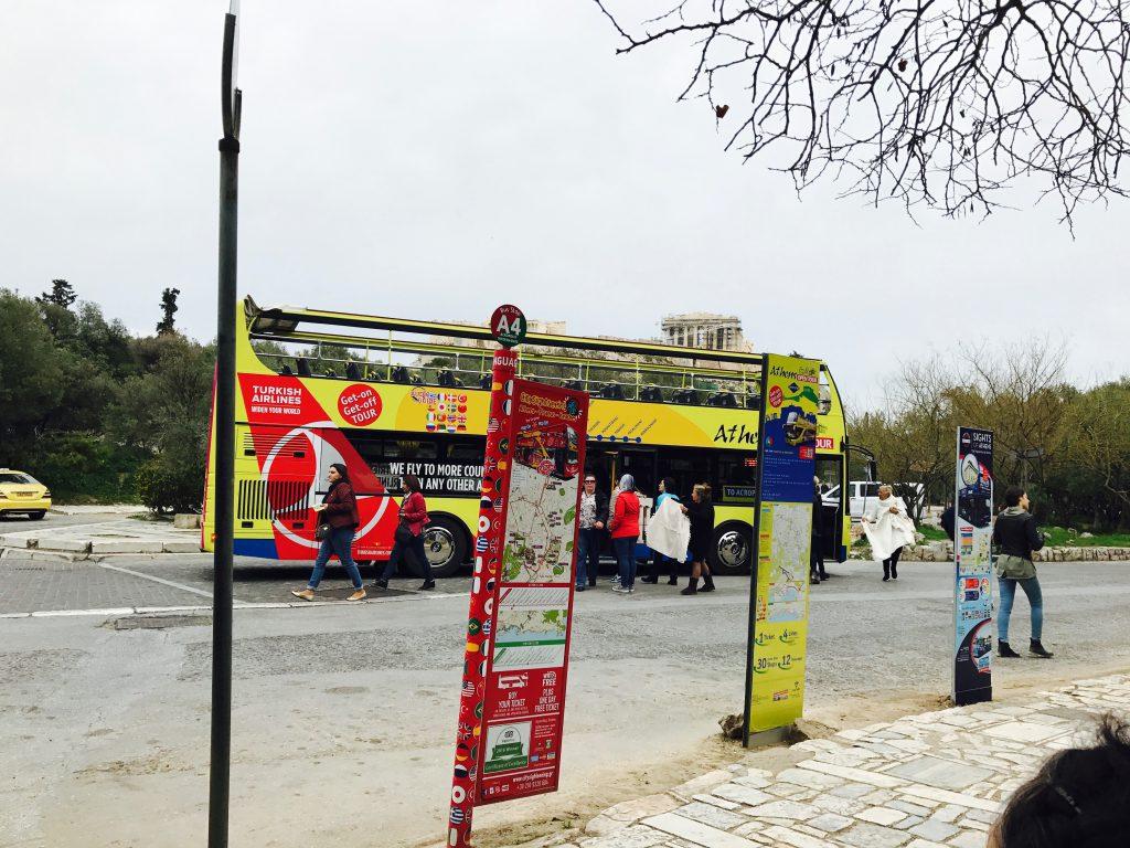 アテネのHipOn HipOff観光バス3種比較!乗り方降り方・CityScightSeeingバスの口コミ評判|ギリシャ観光